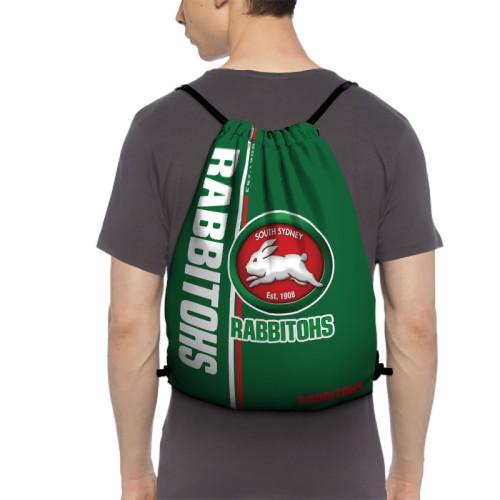NRL South Sydney Rabbitohs Edition Drawstring Backpack Sports Gym Bag