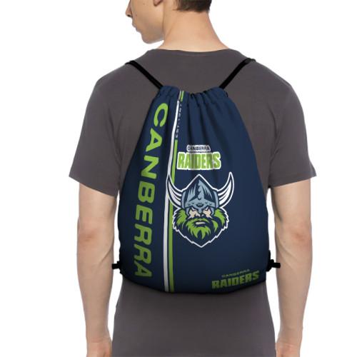 NRL Canberra Raiders Edition Drawstring Backpack Sports Gym Bag
