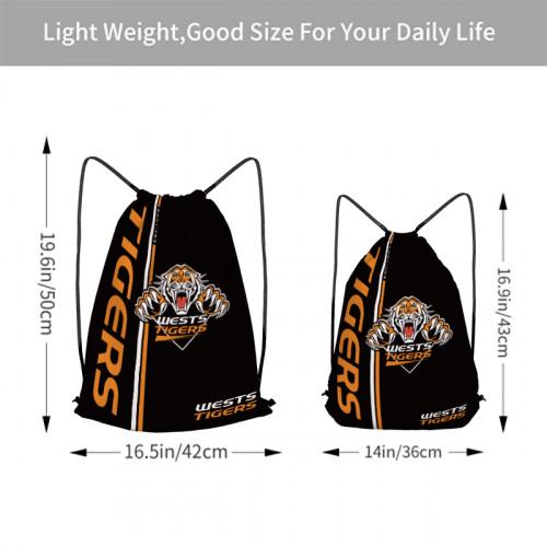 NRL Wests Tigers Edition Drawstring Backpack Sports Gym Bag