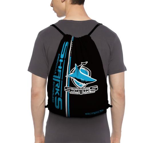NRL Cronulla-Sutherland Sharks Edition Drawstring Backpack Sports Gym Bag