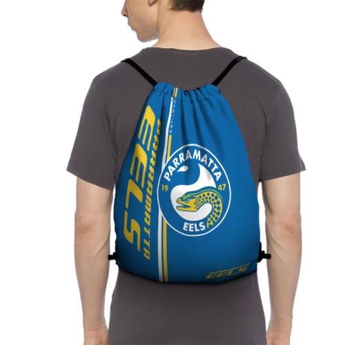 NRL Parramatta Eels Edition Drawstring Backpack Sports Gym Bag