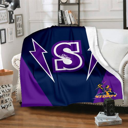 NRL Melbourne Storm Edition Blanket