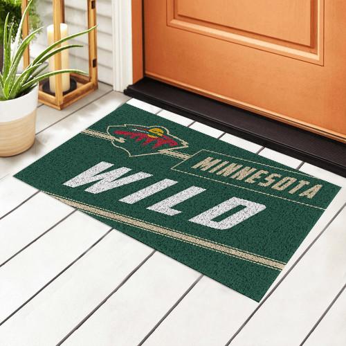 NHL Minnesota Wild Edition Waterproof Welcome Door Mat
