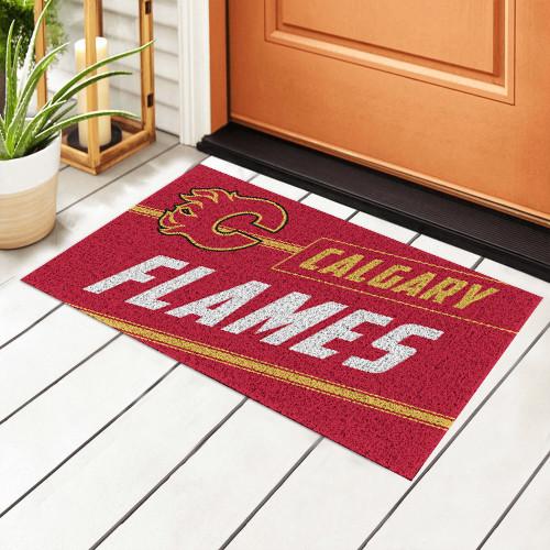 NHL Calgary Flames Edition Waterproof Welcome Door Mat