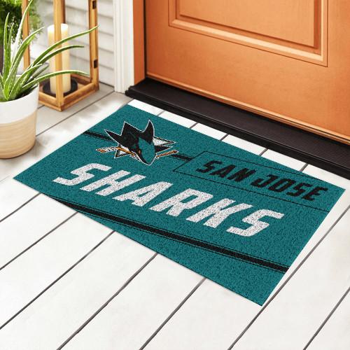 NHL San Jose Sharks Edition Waterproof Welcome Door Mat