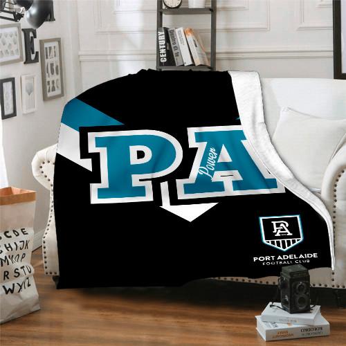 AFL Port Adelaide Edition Blanket