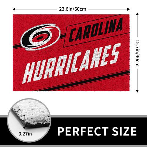 NHL Carolina Hurricanes Edition Waterproof Welcome Door Mat
