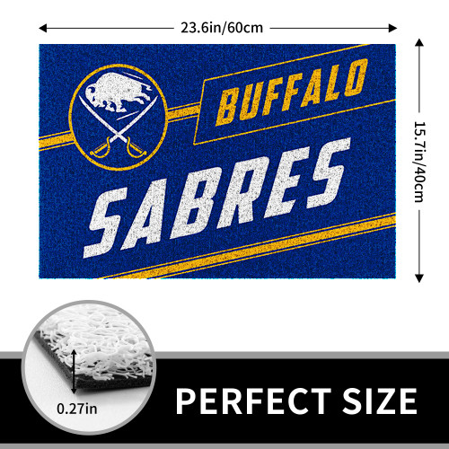 NHL Buffalo Sabres Edition Waterproof Welcome Door Mat