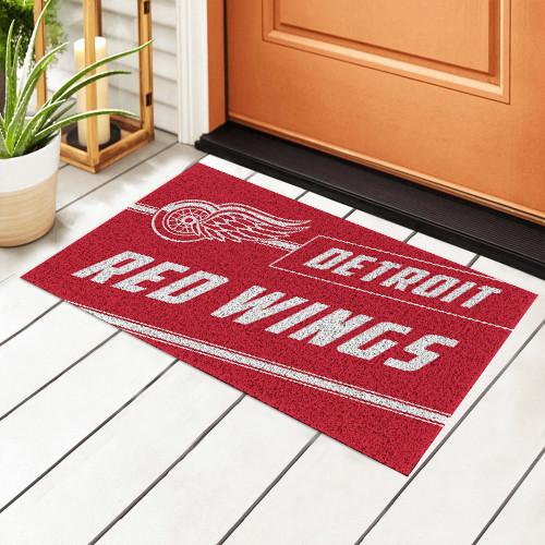 NHL Detroit Red Wings Edition Waterproof Welcome Door Mat