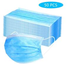 50pcs Disposable 3-Layer Non-woven Breathable Earloop Face Mask