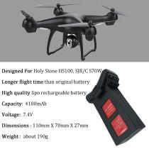 Upgrade 7.4V 4100mAh Lipo Battery For Holy Stone HS100 SJRC S70W Quadcopter Dorne