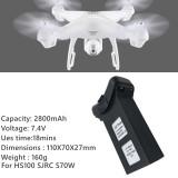 7.4V 2800mAh Lipo Battery for Holystone HS100 SJRC S70W RC Drone