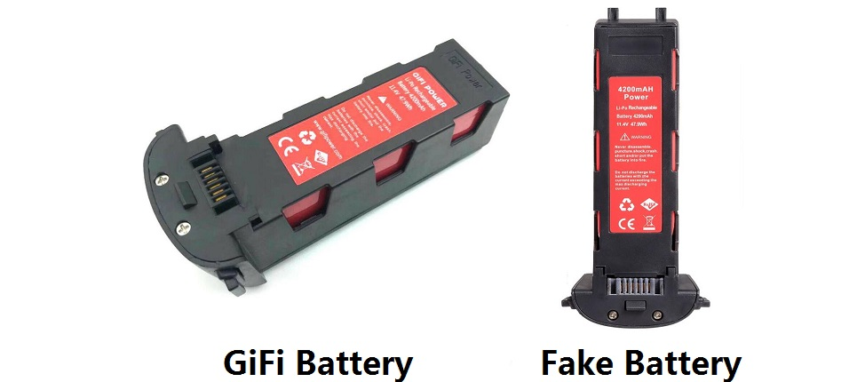 GiFi Battery VS Fake Battery