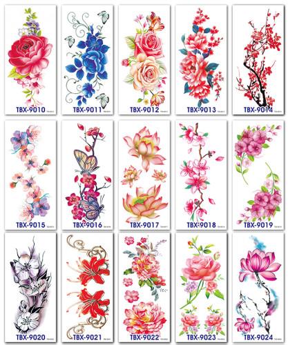 15 pcs Half Arm Waterproof Temporary Tattoo Sticker TBX9010-9024