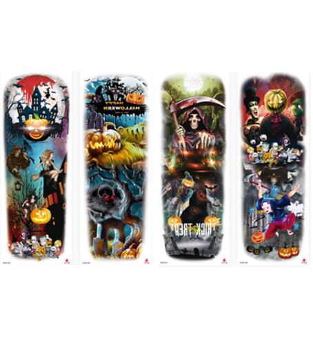 4 pcs Full Arm Halloween Temporary Tattoo Sticker Waterproof WAM325-328