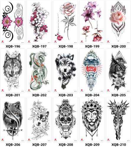 15 pcs Half Arm Temporary Tattoo Sticker Waterproof XQB196-210