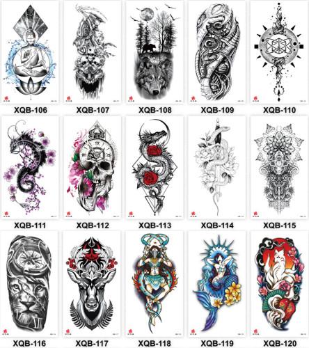 15 pcs Half Arm Temporary Tattoo Sticker Waterproof XQB106-120