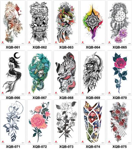 15 pcs Half Arm Temporary Tattoo Sticker Waterproof XQB061-075