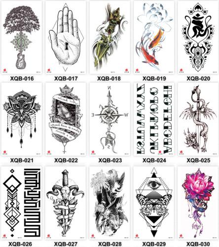 15 pcs Half Arm Temporary Tattoo Sticker Waterproof XQB016-030