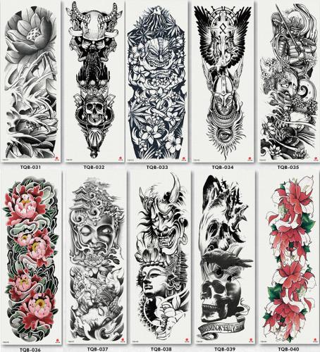 10 pcs Full Arm Temporary Tattoo Sticker Waterproof TQB031-040