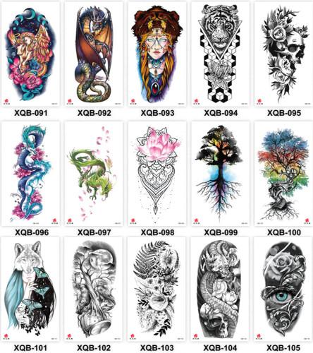 15 pcs Half Arm Temporary Tattoo Sticker Waterproof XQB091-105