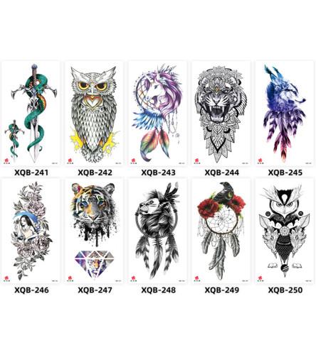 10 pcs Half Arm Temporary Tattoo Sticker Waterproof XQB241-250