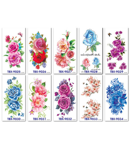 10 pcs Half Arm Waterproof Temporary Tattoo Sticker TBX9025-9034