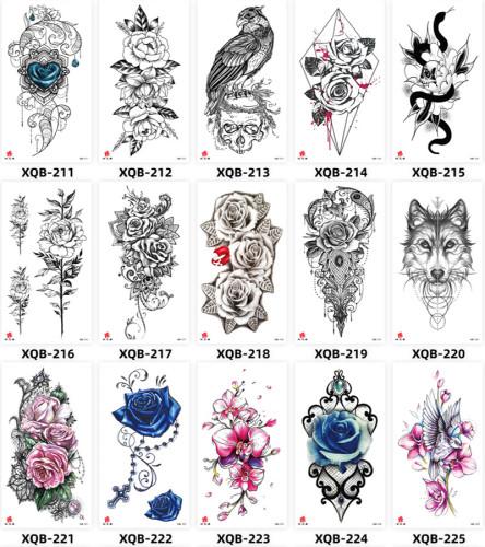 15 pcs Half Arm Temporary Tattoo Sticker Waterproof XQB211-225