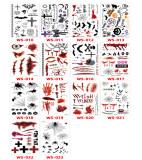 14 pcs Halloween Temporary Tattoo Sticker Waterproof WS010-023