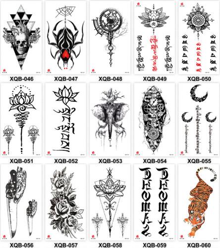 15 pcs Half Arm Temporary Tattoo Sticker Waterproof XQB046-060