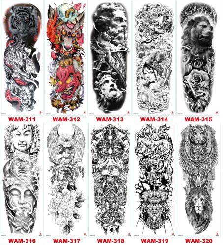 10 pcs Full Arm Temporary Tattoo Sticker Waterproof WAM311-320