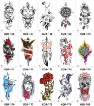 15 pcs Half Arm Temporary Tattoo Sticker Waterproof XQB166-180
