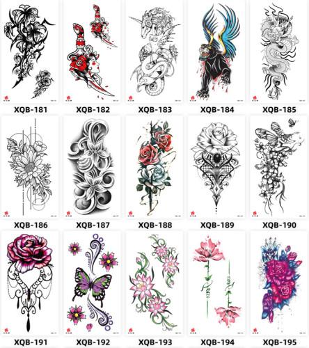 15 pcs Half Arm Temporary Tattoo Sticker Waterproof XQB181-195