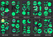 10 pcs Kids Luminous Halloween Temporary Tattoo Sticker Waterproof WSY011-020