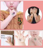 10 pcs Easter Day Temporary Tattoo Sticker Waterproof WS102-111