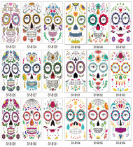 18 pcs Halloween Temporary Tattoo Sticker Waterproof SYB123-131/148-156
