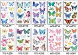 10 pcs Kids Cartoon Temporary Tattoo Sticker Waterproof Butterfly WSA251-260