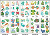 10 pcs Temporary Tattoo Sticker Waterproof Environmental Protection Cartoon WSA191-200