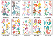 10 pcs Kids Cartoon Temporary Tattoo Sticker Waterproof Car WSA035-044