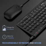Rechargeable Wireless Keyboard and Mouse