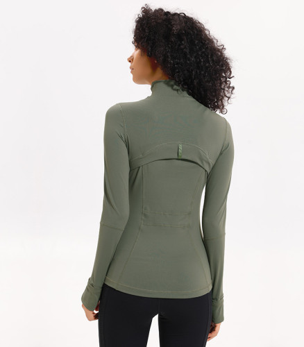 SPEEDGYM Women Sports Jackets Long sleeve zip shirt JK-8031