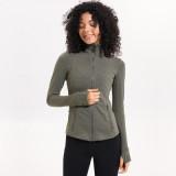 SPEEDGYM Women Sports Jackets Long sleeve zip shirt JK-8031