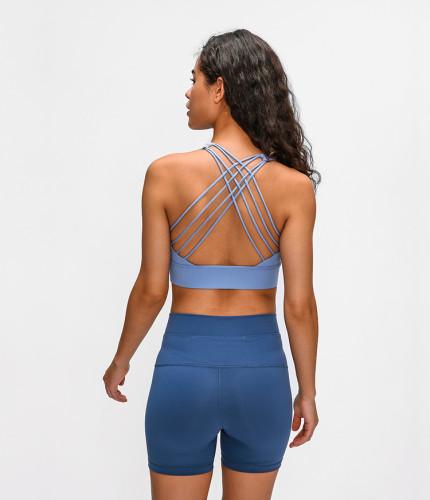 SPEEDGYM Women Sports Yoga Bras Lace-up Back Fitness Bra WX-2010