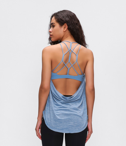 SPEEDGYM Women Sports Yoga Sleeveless Tank Tops Leisure vest BX-2012