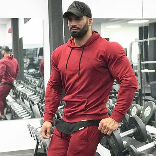 SPEEDGYM Men's Sports Fitness Hoodies Outdoor Jackets WY-N001