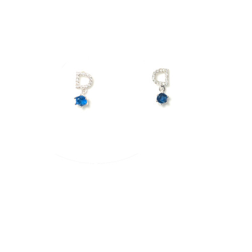 Microscope Zircon Word Stud Earrings 2006013