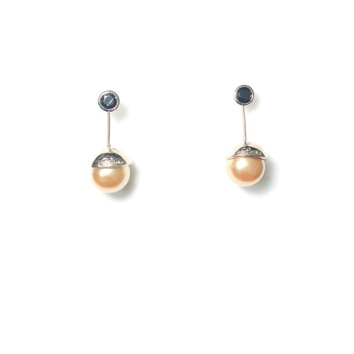 Gold Ball Stud Earrings 2006005