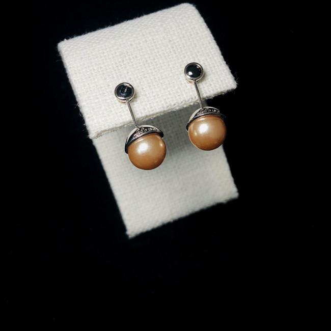 Gold Ball Stud Earrings 2006005