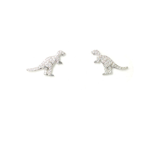 Microscope Zircon Dino Stud Earrings 2006027