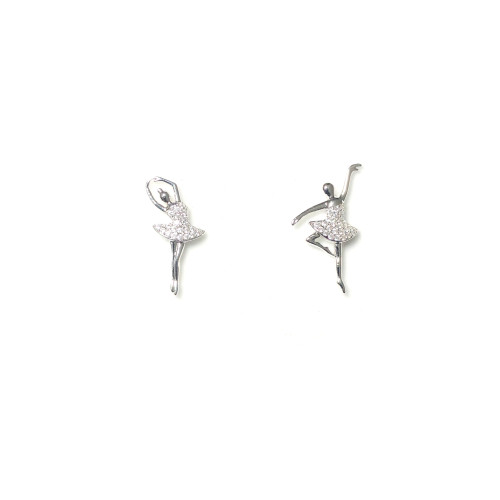 Microscope Zircon Ballet Stud Earrings 2006020